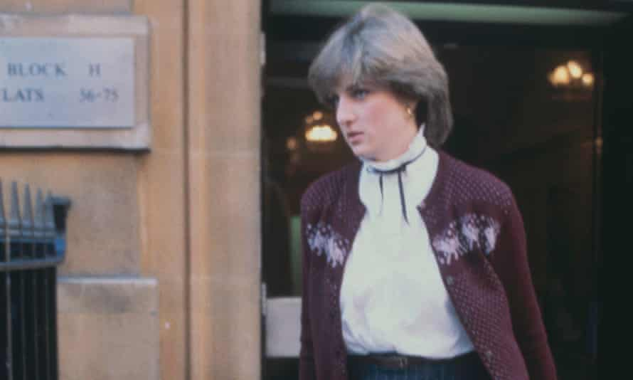 Diana leaving her flat in Earl's Court in 1980