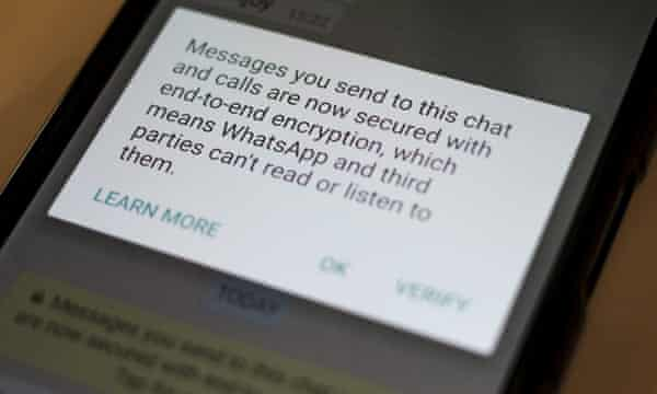 A security message on WhatsApp.