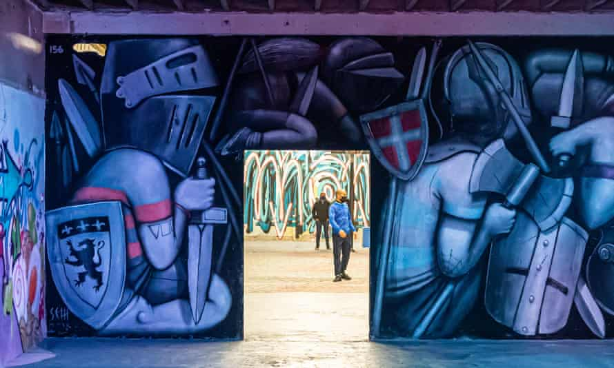 A street art exhibition last October in Lyon, France.