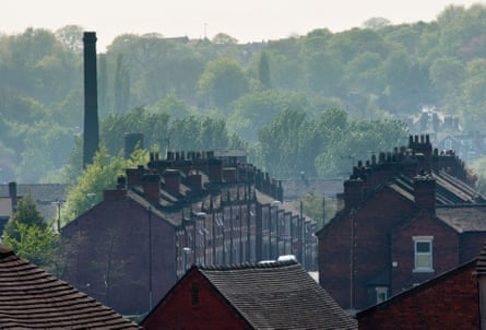 An urban landscape of Potteries factory housing in Middleport, Stoke-on-Trent