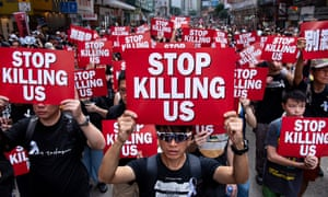 Mass protest against extradition bill, Hong Kong