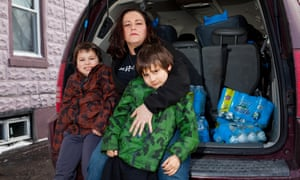 LeAnne Walters and her twin sons, Garrett and Gavin. 'I know as far as the lead in the water that's OK, but it's the lack of trust that was never rebuilt.'