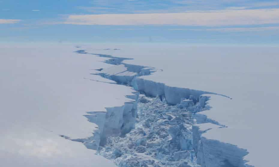 antarctica aerial view