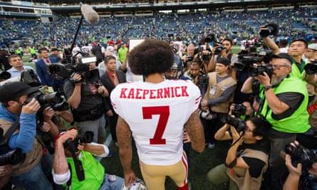 Colin Kaepernick faced huge amounts of press attention last season