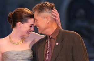 Anne Hathaway and Jonathan Demme at 'Rachel Getting Married' film premiere, 65th Venice International Film Festival, Venice, Italy 03 Sep 2008.