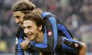 Hernan Crespo and Zlatan Ibrahimovic enjoyed a good relationship during their time together at Inter.