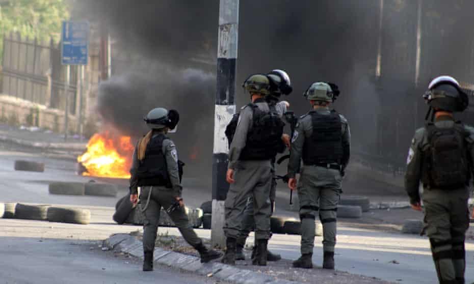 Israel troops in occupied West Bank