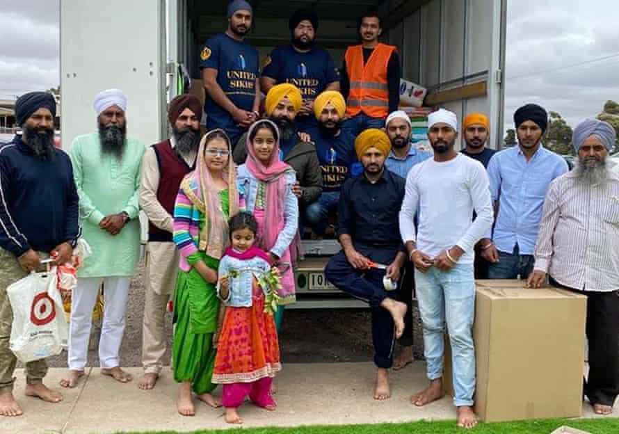 The United Sikhs volunteers in Bairnsdale