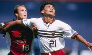 Raul Diaz Arce of DC United (right) shows off the best kit in MLS history