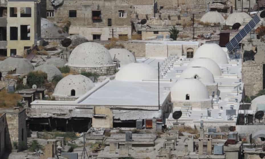 The restored Al-Saqatiyya Souk in Aleppo, Syria.