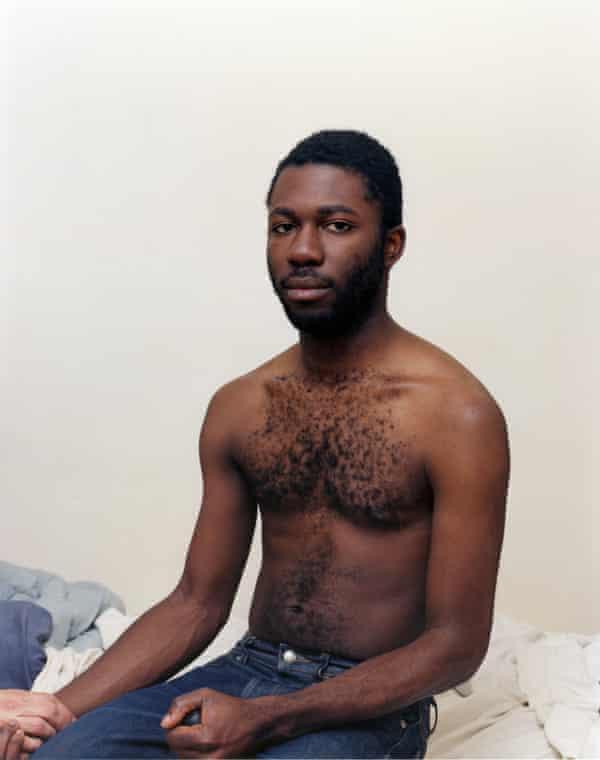 Self-Portrait Holding Joshua's Hand, 2006.