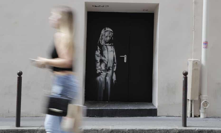 Banksy mural at Bataclan