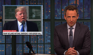 Seth Meyers: Trump's declaration was 'the exact opposite of an emergency. That's a choice.'