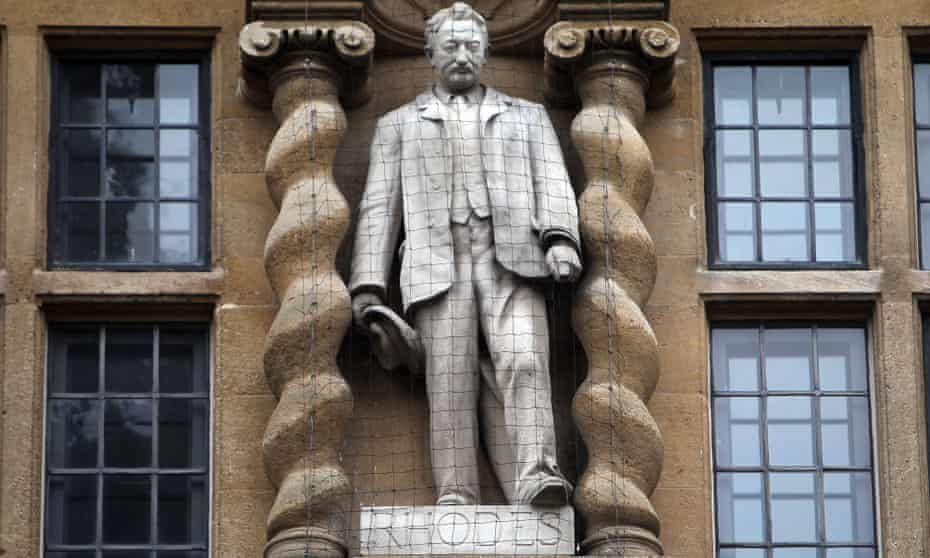 The Oriel College statue of British imperialist Cecil Rhodes. The college decided to keep the statue.