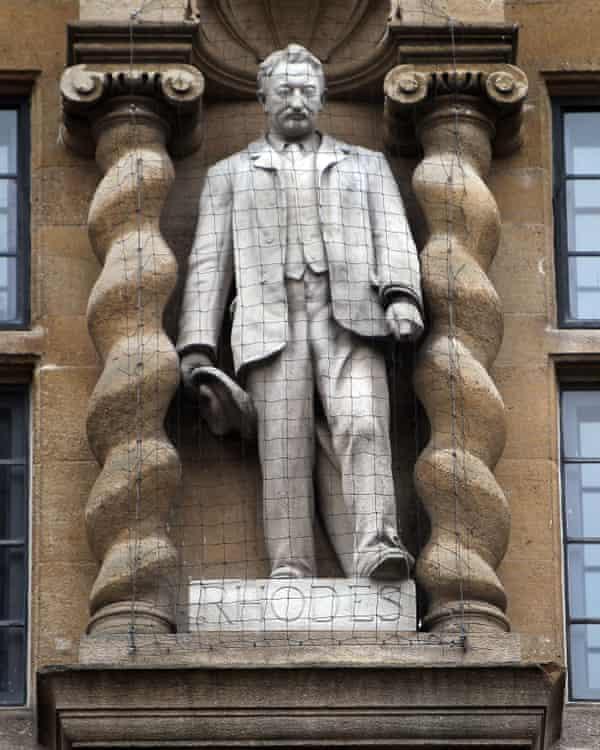 The statue of Cecil Rhodes at Oriel College, Oxford
