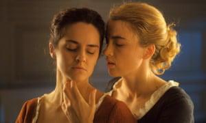 Etched into memory … Noémie Merlant, left, and Adèle Haenel.