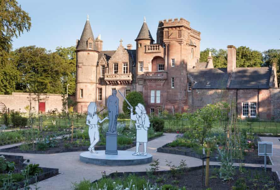 Hospitalfield House. Arts centre and historic house in Arbroath, Scotland.