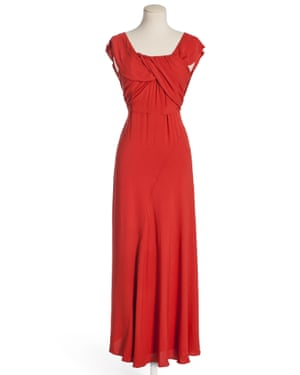 Silk dress worn by Bernadette Arnal on the maiden voyage of Normandie