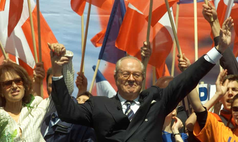 Jean-Marie Le Pen campaigning in the presidential elections of 2002