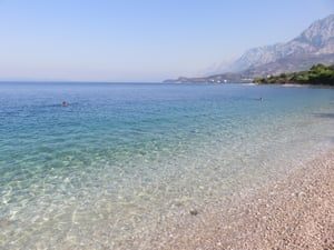 Tucepi, part of the Makarska Riviera in Croatia.
