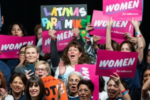 Women attend the campaign event 'Women for Mike' in Manhattan.