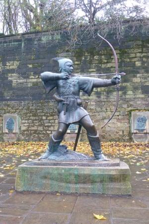 Robin Hood sculpture, Nottingham.