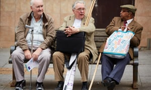 A group of pensioners