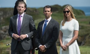 Donald Trump has said that his children will manage his business holdings.