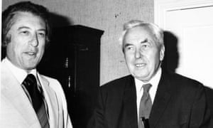 Michael Freedland with the Labour politician Harold Wilson