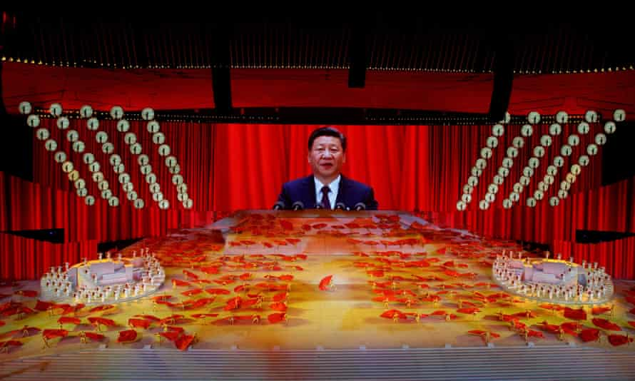 President Xi Jinping speaks at  a Community party event