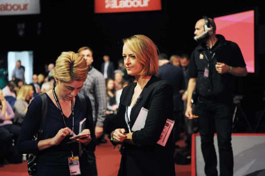 Laura Kuenssberg prior to the announcement of the new leader of the Labour Party at the ACC Conference Centre.
