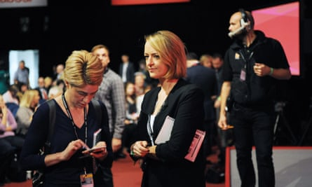 Laura Kuenssberg waits for the result of the 2016 Labour leadership election