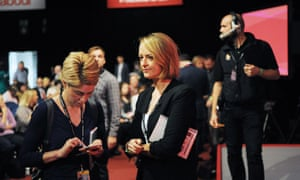Laura Kuenssberg at the 2016 Labour conference.