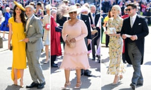 Amal and George Clooney, Oprah Winfrey, and Carey Mulligan and Marcus Mumford arrive for the royal wedding.