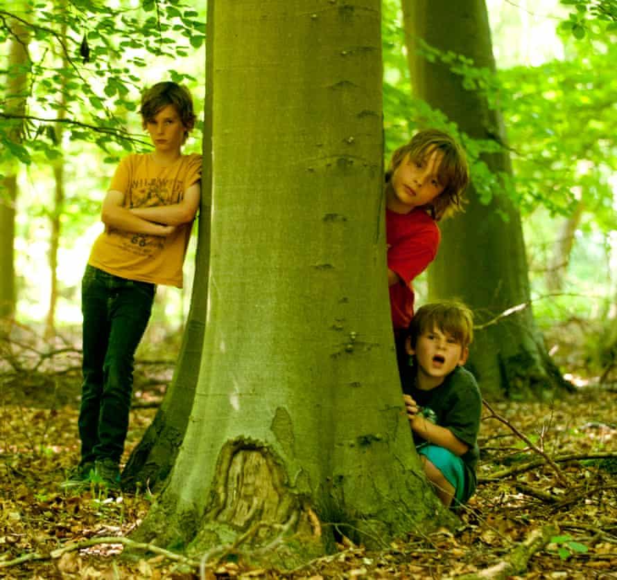 Bibi van der Zee's three sons in 2013.