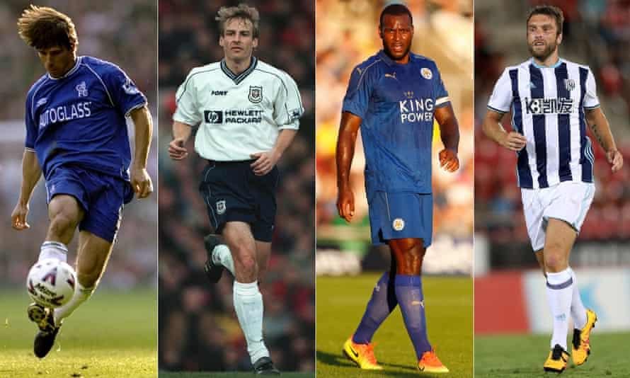 Gianfranco Zola, Jürgen Klinsmann, Wes Morgan and Rickie Lambert