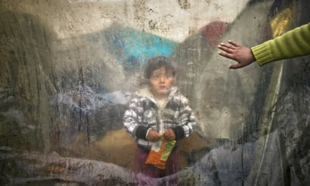 A child in the Idomeni refugee camp in Greece, 2016