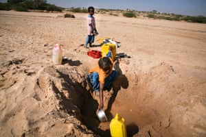 Children digging for water in Somaliland