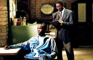 With Clarke Peters as Detective Lester Freamon in the first season of the seminal crime drama, 2002