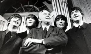 Harold Wilson with the Beatles in 1964.