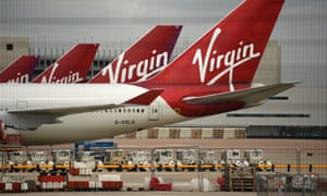 Virgin Atlantic planes at Manchester airport