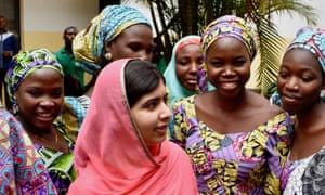 Malala Yousafzai in Abuja, Nigeria.