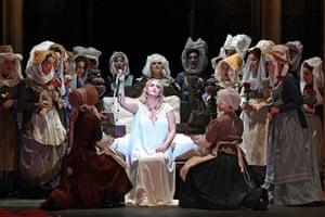 Melbourne, Australia Opera Australia perform a final dress rehearsal of Ernani at Arts Centre Melbourne