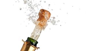 Champagne bottle popping
