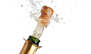 Champagne bottle being opened
