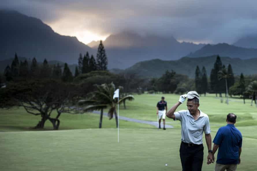Barack Obama in Kailua, Hawaii, 2015.