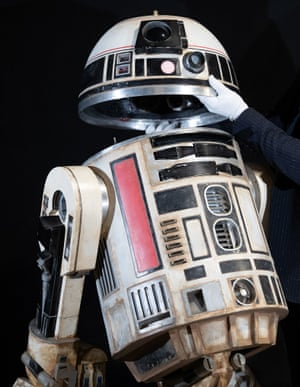 A remote-controlled R2-S8 droid from the 2018 film Solo: A Star Wars Story, estimated at £40,000-£60,000