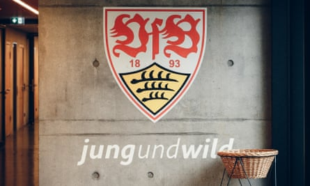 Stuttgart's academy motto sits proudly for all of the club's current young players to see