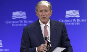 George W Bush speaking at a forum in New York on 19 October 2017.