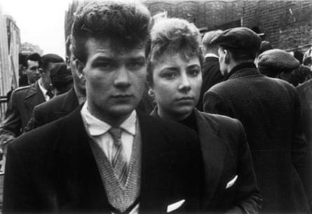 Teddy Boy and Girl, Petticoat Lane 1956.